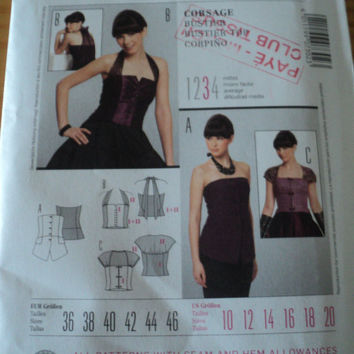 Sewing Pattern Burda Ladies 7302 - Bustier top