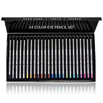 SHANY Slim 24 Shades Pencil Eyeliner Set, Multi