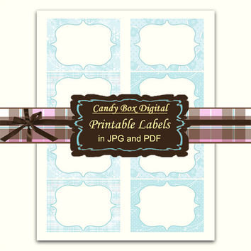 Winter Label, printable label, digital label, snowflake label, party label, printable frame, buffet label, storage label - Commercial Use OK