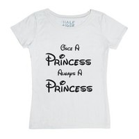 Once A Princess Always A Princess-Female White T-Shirt