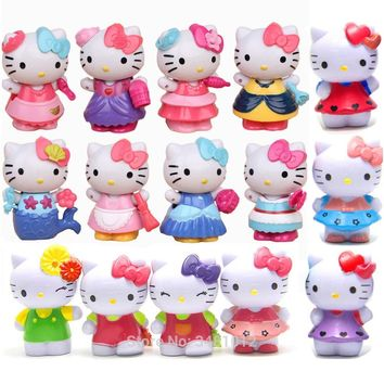 Hello Kitty Anime Model Miniature PVC Action Figures Cartoon Limited Edition Micro Gnome Terrarium Figurines Dolls Kids Toys