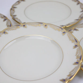 Lenox Side Plates / Essex Cobalt Blue / SETS of 4