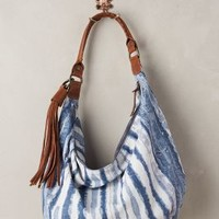 Indigo-Brushed Hobo Bag by Tano Blue All Bags