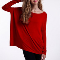 PIKO Long Sleeve Top - Red