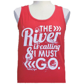 Girlie Girl Originals The River Bright Red Tank Top