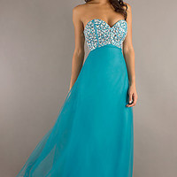 Strapless Beaded Evening Gown