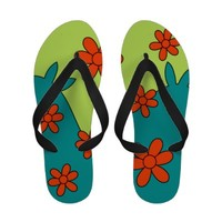 Scooby-Doo Mystery Machine Inspired Flip Flops