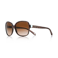 Tiffany & Co. - Tiffany Hearts® square sunglasses in brown acetate.