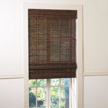 Lewis Hyman Santa Collection Cruz Rosewood Finished Bamboo Roman Shade | Overstock.com Shopping - The Best Deals on Blinds & Shades