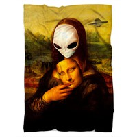 Alien Mona Lisa Blanket