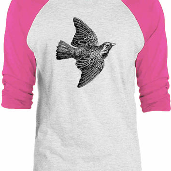 Big Texas Western Jackdaw 3/4-Sleeve Raglan Baseball T-Shirt