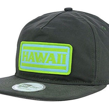 Volcom Hawaii Pro Patch Snapback New Era 9Forty Flatbill Grayish Olive Cap Hat