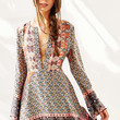 Glamorous Ladies Border Print Dress - Urban Outfitters