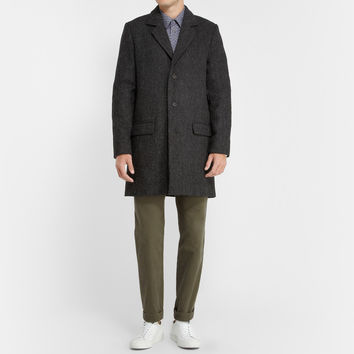 A.P.C. - Unstructured Harris Tweed Wool Overcoat | MR PORTER