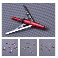 DIY 6pcs/12pcs Stainless Steel Hunting Arrowheads Arrow Heads Points Broadhead 100 Grain Archery Compound Bow