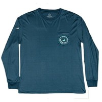 FieldTec Pocket Tee - LONG SLEEVE in Slate with Aquamarine by Southern Marsh