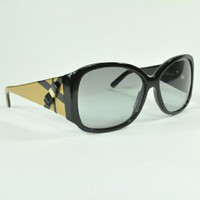 Versace Bow Sunglasses | Black + Gold Sunglasses