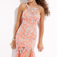 Haltered Neckline Gown by Party Time