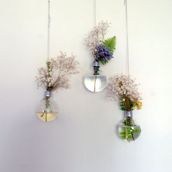 Light Bulb Hanging Vase Set of 3 Sale