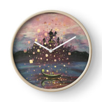 'Tangled Lantern Painting' Clock by Abbyja10