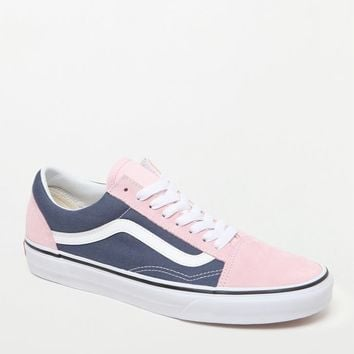 Vans Women's Blue and Pink Old Skool Sneakers at PacSun.com