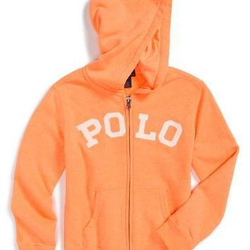 Toddler Boy's Ralph Lauren 'Magic' Full Zip Hoodie,
