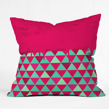 Jacqueline Maldonado Triangle Dip Pink Throw Pillow