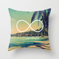 Forever Summer Vintage Throw Pillow by RexLambo | Society6