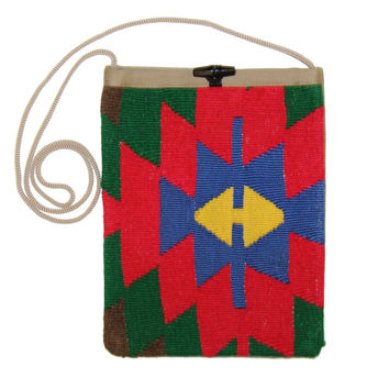 Charlesetta Multi Diamond Pattern Kilim Bag