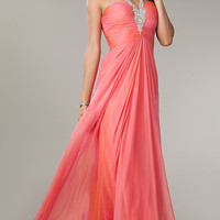 Open Back Halter Gown