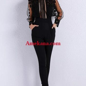 Lucy Lace Jumpsuit