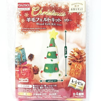 Needle Felting Kit Wool Felt DIY Kit with English Menu for Handmade Christmas Tree Doll