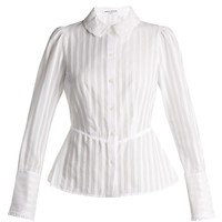 Broderie-anglaise collar striped cotton blouse   Sonia Rykiel   MATCHESFASHION.COM US