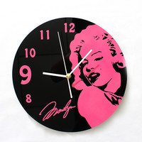 Famous Star Creative Design Art Vintage Wall Clock Fashion Vinyl Record Wall Clock Silent Non-tickingWall Clock 2 Colors