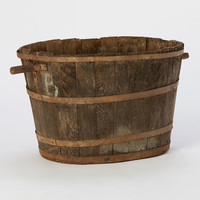 Vintage Round Grape Crates