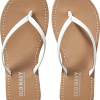 Old Navy Girls Faux Leather Flip Flops