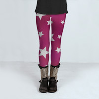 Pink Star Pattern by Hippy Gift Shop (Leggings)