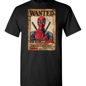 Deadpool Wanted Poster Unisex T-Shirt