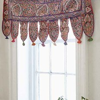 One-Of-A-Kind Mirrored Window Valance- Multi One
