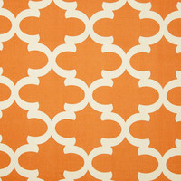 Orange trellis pillow cover with white morrocan print, Fabric Both sides , all sizes available up to 24x24