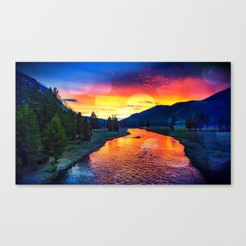 Sunset at Yellowstone Canvas Print by minx267