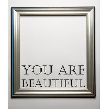 You are beautiful wall decal mirror decal large