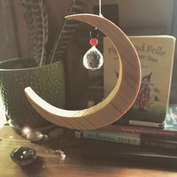 Moon Crystal Window Hanging
