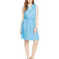 Lauren Ralph Lauren Sleeveless Printed Georgette Dress