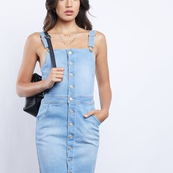 Blue Sky Overall Denim Dress
