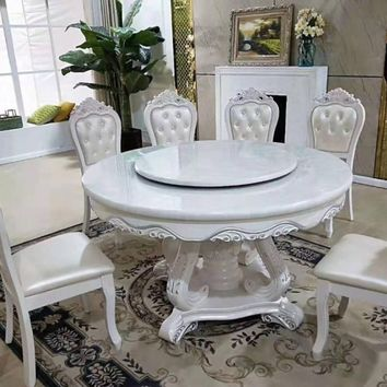 Rich  Look  Antique  Round Dining Table Set