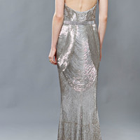 Beaded Fringe Deco Gown | Moda Operandi