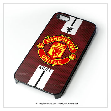 Manchester United Logo iPhone 4 4S 5 5S 5C 6 6 Plus , iPod 4 5 , Samsung Galaxy S3 S4 S5 Note 3 Note 4 , HTC One X M7 M8 Case