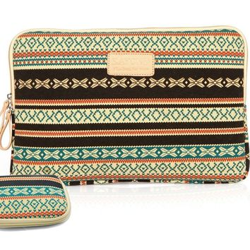 Kayond 2013 New Bohemian Style Canvas Fabric 11 Inch Laptop / Notebook Sleeve Macbook / Macbook Pro / Macbook Air Sleeve Case Dell / Hp /Lenovo/sony/ Toshiba / Ausa / Acer /Samsung /Haier Ultrabook Bag Cover:Amazon:Computers & Accessories