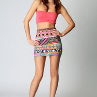 Lana Multi Mish Mash Bodycon Skirt